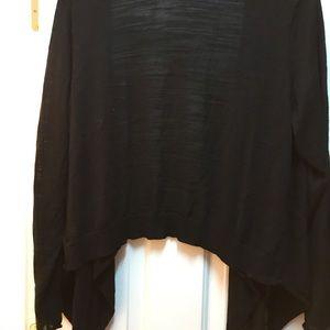 Black asymmetrical light weight sweater